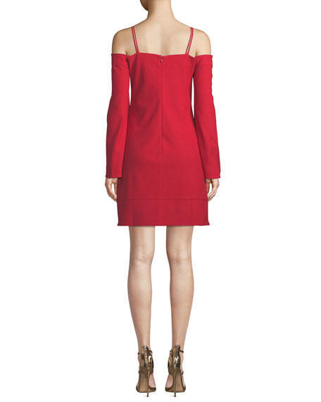 Tempo Off-the-Shoulder Slit-Sleeve Mini Dress