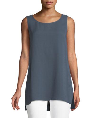 9899039241 Ruthie Sleeveless High-Low Hem Silk Blouse. Add to favorites