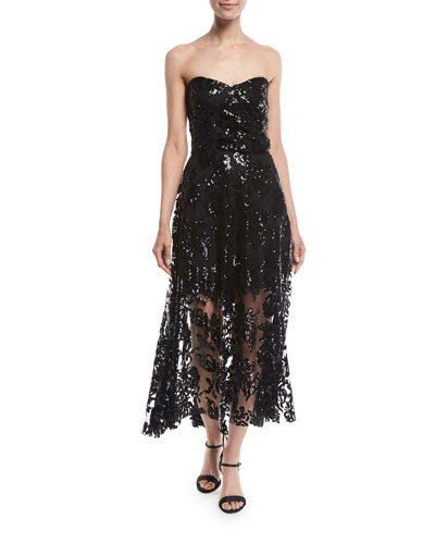 Tori Lace Sequin Embroidered Dress