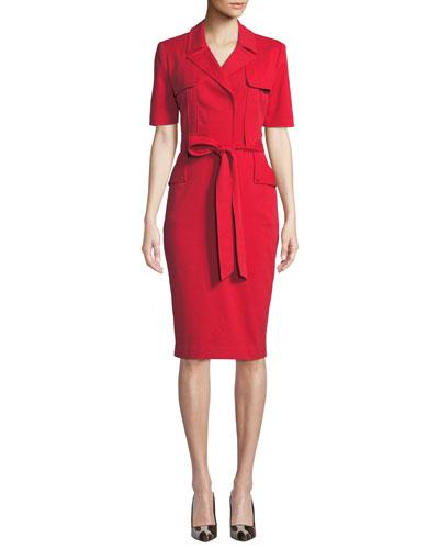 Safari Jacket Short-Sleeve Dress