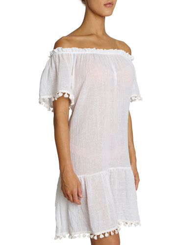 Devon Off-Shoulder Cotton Coverup Dress