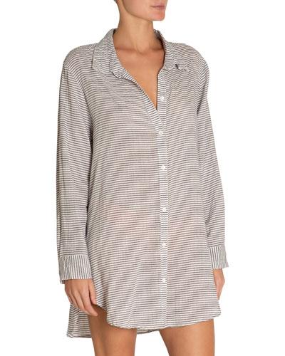 Strada Striped Coverup Beach Shirt