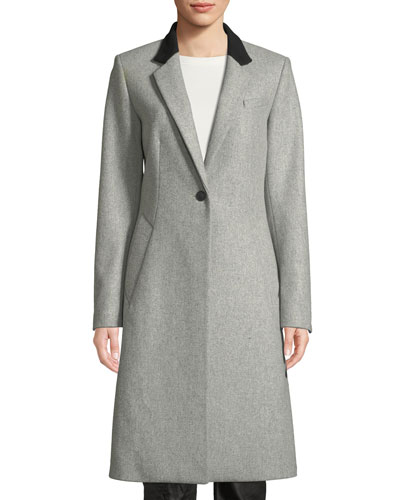 Daine Single-Button Wool Coat