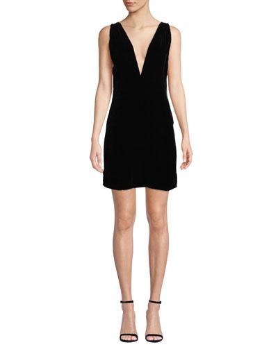 The Ennis V-Neck Velvet Dress