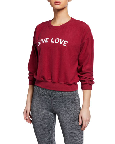 Give Love Malibu Crewneck Sweatshirt