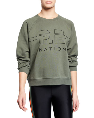 Swingman Raglan Logo Pullover Sweatshirt