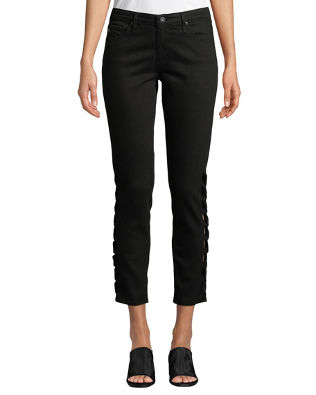 Ag THE PRIMA CROPPED MID-RISE JEANS WITH INTERTWINED SIDES
