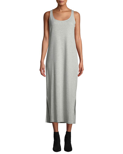 Scoop-Neck Tank Dress with Side Slits  Petite