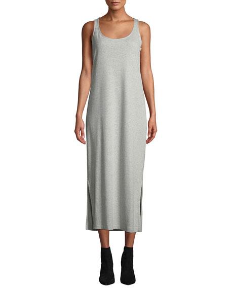 Joan Vass Petite Scoop-Neck Tank Dress with Side