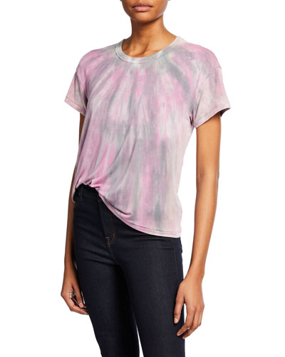 Crewneck Tie-Dye Cotton Tee