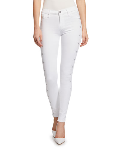 Gisele High-Rise Super Skinny Jeans with Metallic Stars