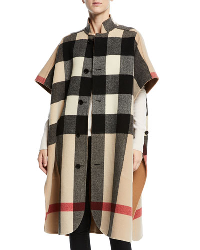 Reversible Check-to-Solid Cape