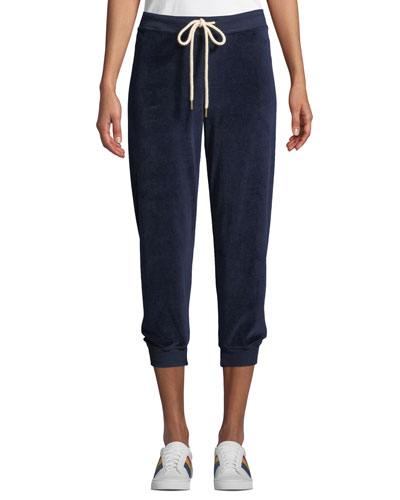 The Velour Cropped Sweatpants