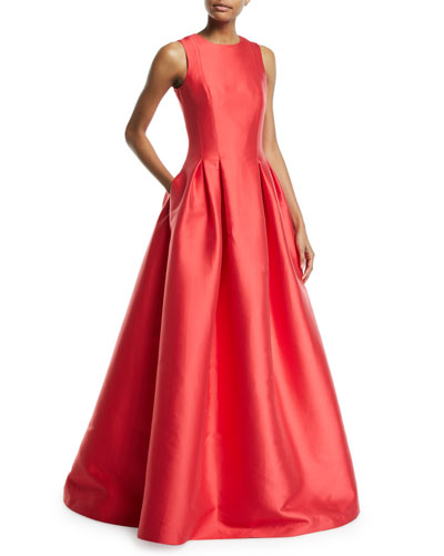 Miramare Sleeveless Colorblock Ball Gown