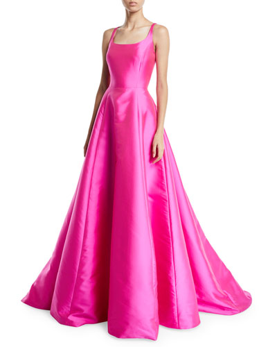Kruse Sleeveless Scoop-Neck Ball Gown