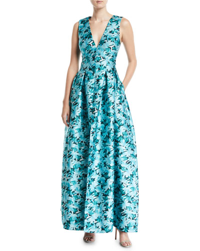 Brooke Floral Gown w/ Pockets