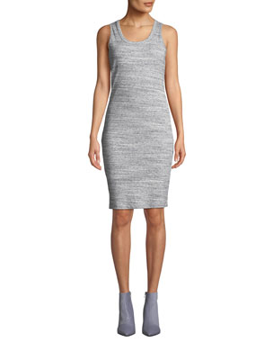 b5849100677d MICHAEL Michael Kors Space-Dye Scoop-Neck Fitted Rib Tank Dress
