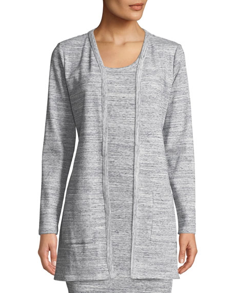 MICHAEL Michael Kors Ribbed Long-Sleeve Tie-Waist Cardigan