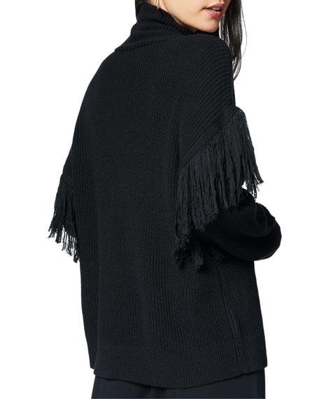 RAMY BROOK Sweaters GRAYSON FRINGE TURTLENECK SWEATER
