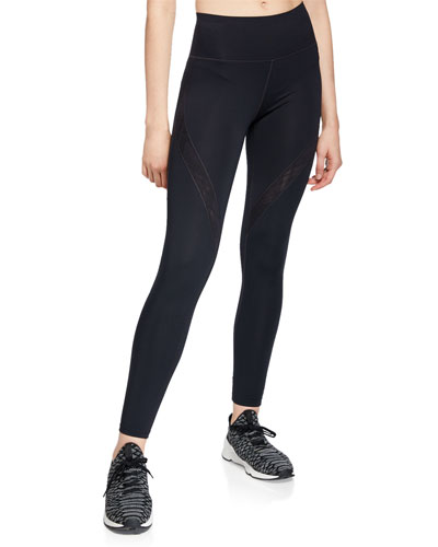 Misty Embroidered Performance Leggings