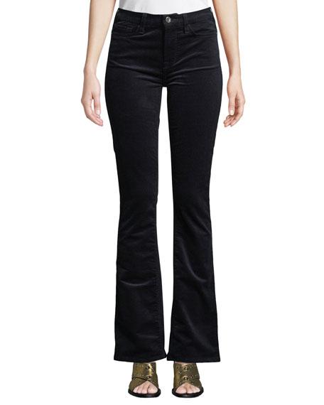 Slim Boot-Cut Mid-Rise Corduroy Pants