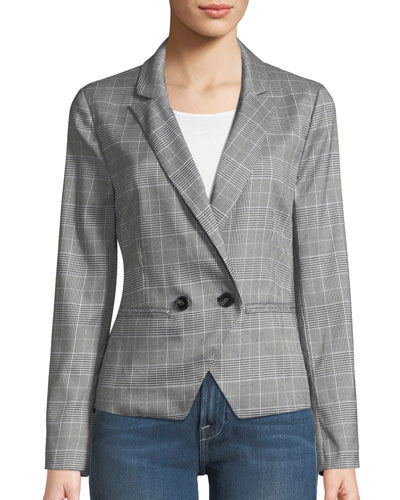 Belmont Plaid Double-Breasted Blazer