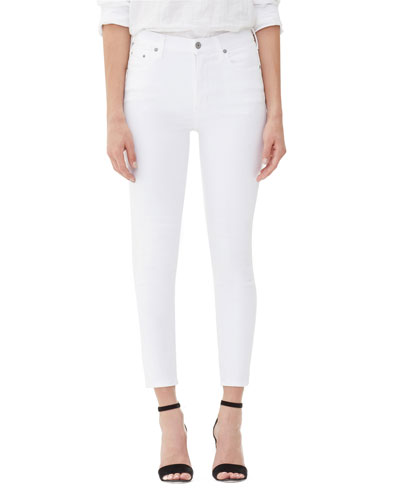 Rocket Crop High-Rise Skinny Jeans  White Sculpt