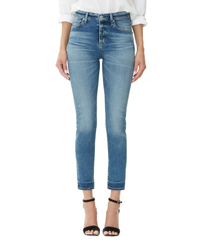 Harlow High-Rise Ankle Straight-Leg Jeans
