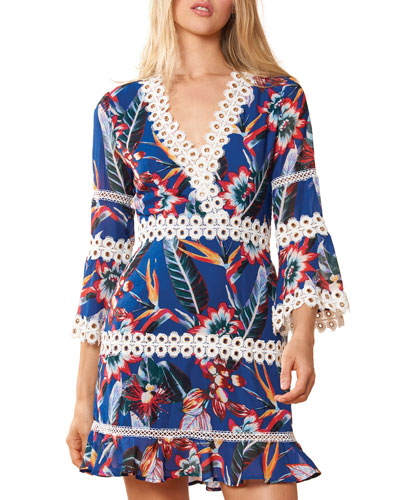Willow Floral-Print Coverup Dress