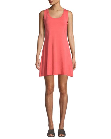 MASAI Heat Scoop-Neck Sleeveless Jersey Dress in Coral