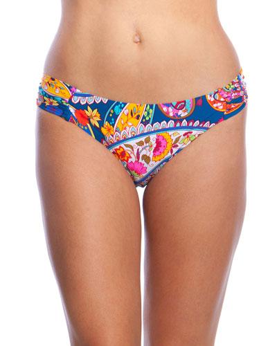 Moroccan Shirred Hipster Bikini Bottoms