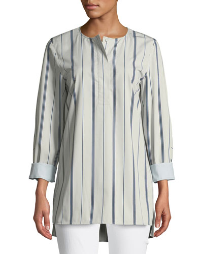 Plus Size Tilly Sonoran Striped Blouse