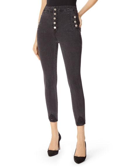 J Brand Natasha Sky-High Crop Skinny Jeans with