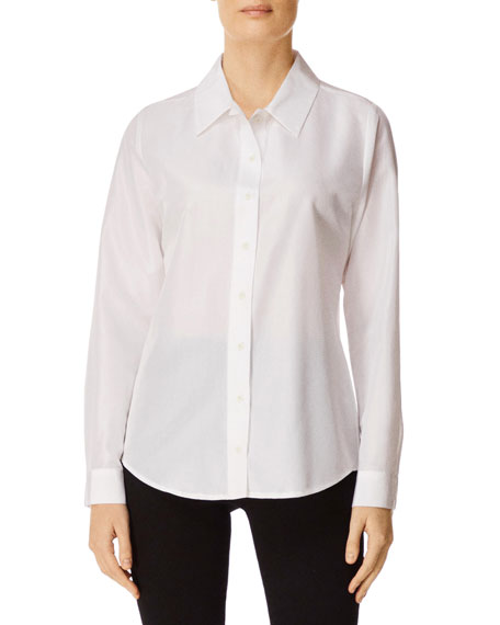 J Brand T-shirts ELENA BUTTON-FRONT LONG-SLEEVE SHIRT