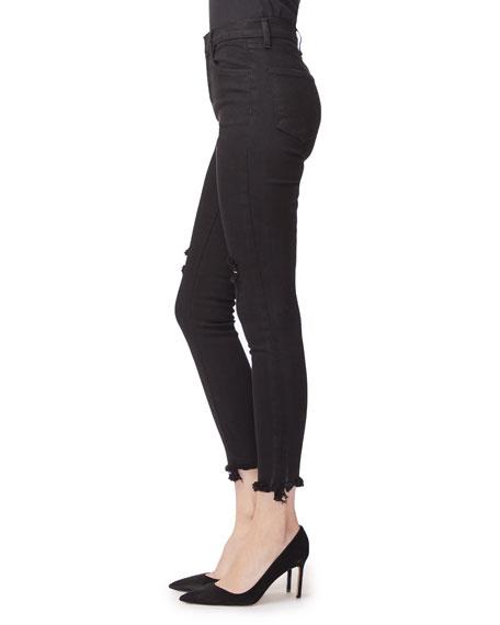 J Brand Alana High-Rise Distressed Frayed Skinny Jeans