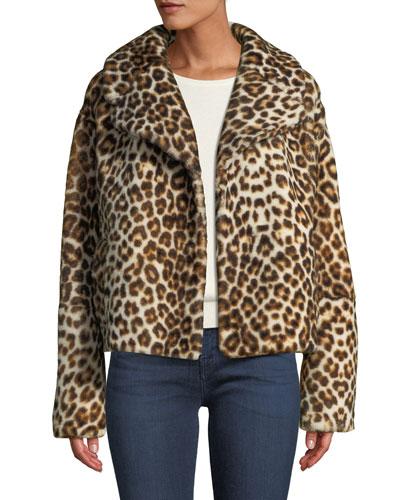 Grant Leopard-Print Shearling Jacket