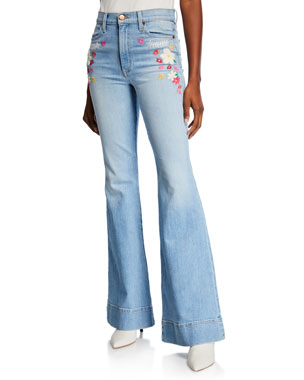 ALICE + OLIVIA JEANS Beautiful High-Rise Bell-Bottom Jeans 7c9264a9047