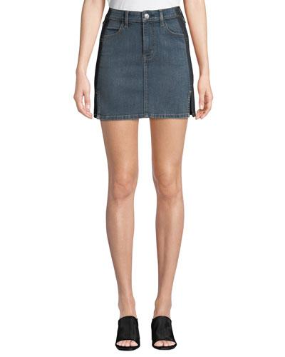 The Mashed Two-Tone Denim Mini Skirt