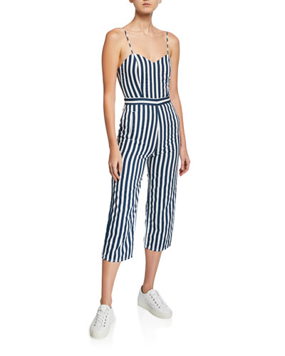 The Cut-It-Out Striped Sleeveless Jumpsuit