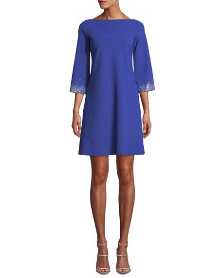 Chiara Boni La Petite Robe Embellished-Sleeve Mini Dress