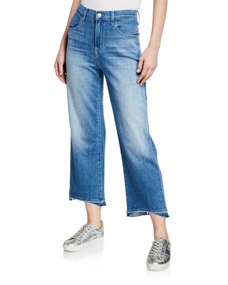 J Brand Joan High-Rise Wide-Leg Cropped Jeans