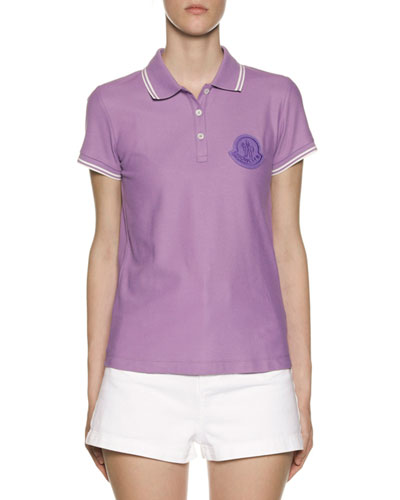 Large Logo Patch Polo Shirt