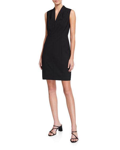 db8da0acf3c Elie Tahari Annabel Sleeveless V-Neck Shift Dress In Black