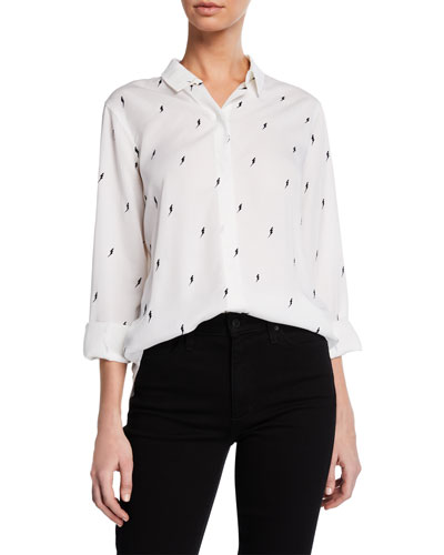 Taylor Long-Sleeve Patterned Button-Front Shirt