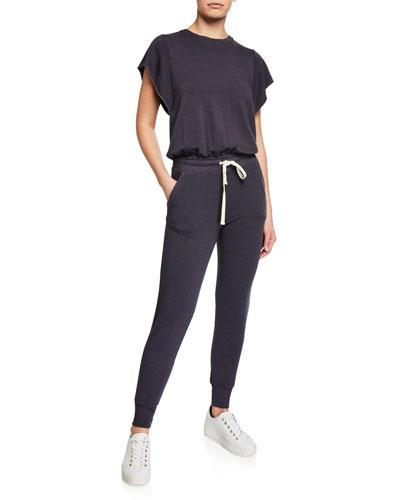 Super-Soft Cap-Sleeve Jumpsuit