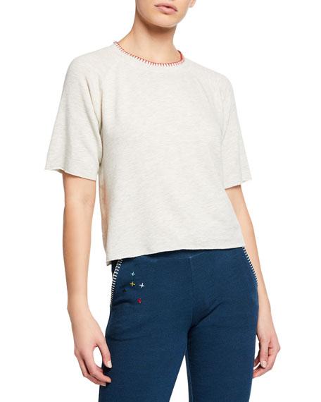 Monrow T-shirts SUPER-SOFT CUTOFF SWEATSHIRT