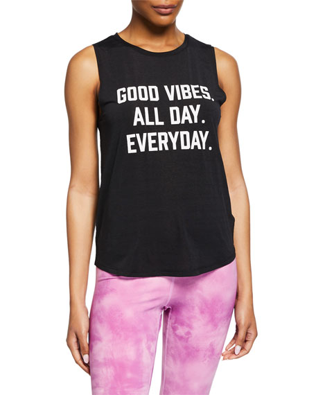 Spiritual Gangster Active Good Vibes Muscle Tank