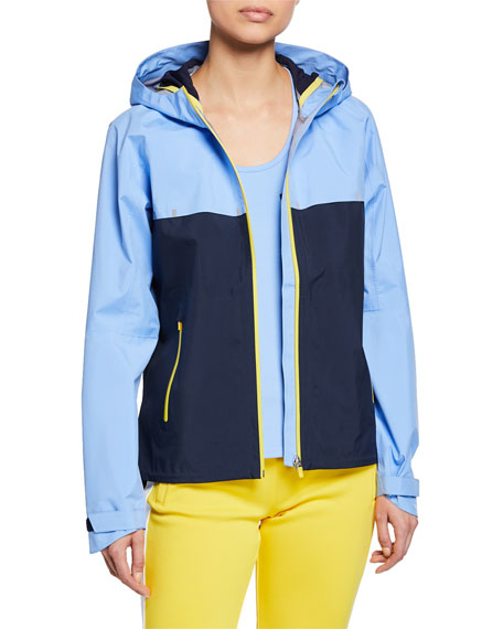 Tory Sport Jackets COLORBLOCK DOUBLE HOODED RUNNING JACKET