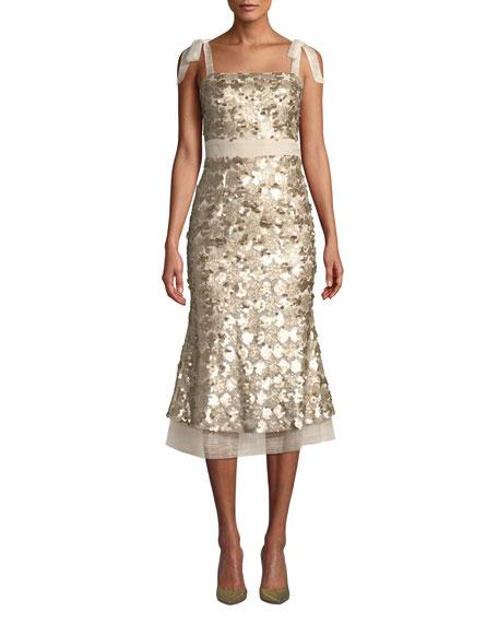 Elliatt Angelina Sequin Sleeveless Midi Cocktail Dress