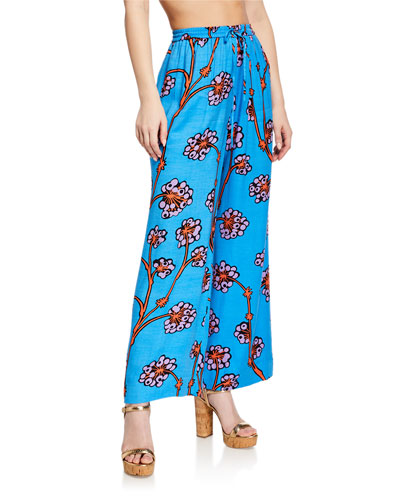Tunis Printed Coverup Pants